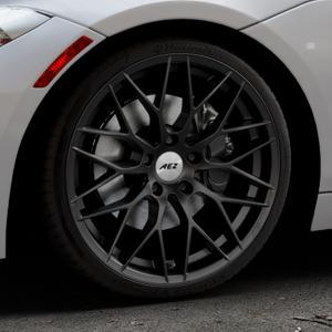 AEZ Antigua Black matt Felge mit Reifen schwarz in 19Zoll Winterfelge Alufelge auf silbernem BMW Z4 Roadster Typ E89 (Z89, ZR) ⬇️ mit 15mm Tieferlegung ⬇️ Industriehalle 1 Thumbnail