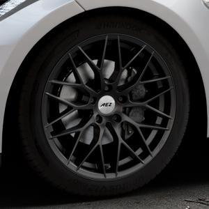 AEZ Antigua Black matt Felge mit Reifen schwarz in 19Zoll Winterfelge Alufelge auf silbernem Tesla Model S Typ 002 ⬇️ mit 15mm Tieferlegung ⬇️ Industriehalle 1 Thumbnail