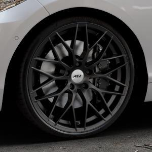 AEZ Antigua Black matt Felge mit Reifen schwarz in 20Zoll Winterfelge Alufelge auf silbernem BMW 220d Typ F22 (Coupé) 220i 218d 225d 228i 218i xDrive 230i ⬇️ mit 15mm Tieferlegung ⬇️ Industriehalle 1 Thumbnail