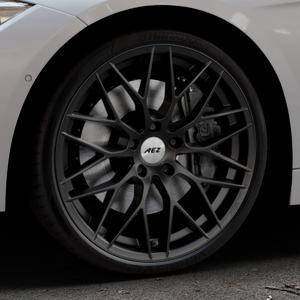 AEZ Antigua Black matt Felge mit Reifen schwarz in 20Zoll Winterfelge Alufelge auf silbernem BMW 320i Typ F31 (Touring) 328i 316d 318d 320d 330d 316i EffDyn Edition 325d 335i xDrive 335d 318i 330i 340i ⬇️ mit 15mm Tieferlegung ⬇️ Industriehalle 1 Thumbnail