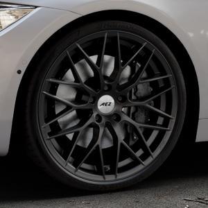 AEZ Antigua Black matt Felge mit Reifen schwarz in 20Zoll Winterfelge Alufelge auf silbernem BMW 420d Typ F32 (Coupé) 428i xDrive 435i 430d 420i 435d 425d F36 (Gran Coupe) 418d 418i 430i 440i ⬇️ mit 15mm Tieferlegung ⬇️ Industriehalle 1 Thumbnail