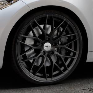 AEZ Antigua Black matt Felge mit Reifen schwarz in 20Zoll Winterfelge Alufelge auf silbernem BMW M2 Typ F87 ⬇️ mit 15mm Tieferlegung ⬇️ Industriehalle 1 Thumbnail