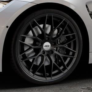 AEZ Antigua Black matt Felge mit Reifen schwarz in 20Zoll Winterfelge Alufelge auf silbernem BMW M3 Typ F80 (Limousine) ⬇️ mit 15mm Tieferlegung ⬇️ Industriehalle 1 Thumbnail