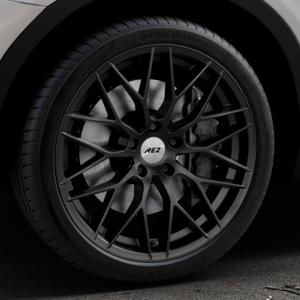 AEZ Antigua Black matt Felge mit Reifen schwarz in 20Zoll Winterfelge Alufelge auf silbernem BMW X3 Typ F25 (X3, X-N1) ⬇️ mit 15mm Tieferlegung ⬇️ Industriehalle 1 Thumbnail