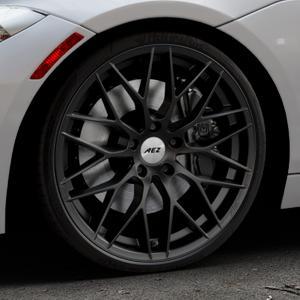 AEZ Antigua Black matt Felge mit Reifen schwarz in 20Zoll Winterfelge Alufelge auf silbernem BMW Z4 Roadster Typ E89 (Z89, ZR) ⬇️ mit 15mm Tieferlegung ⬇️ Industriehalle 1 Thumbnail