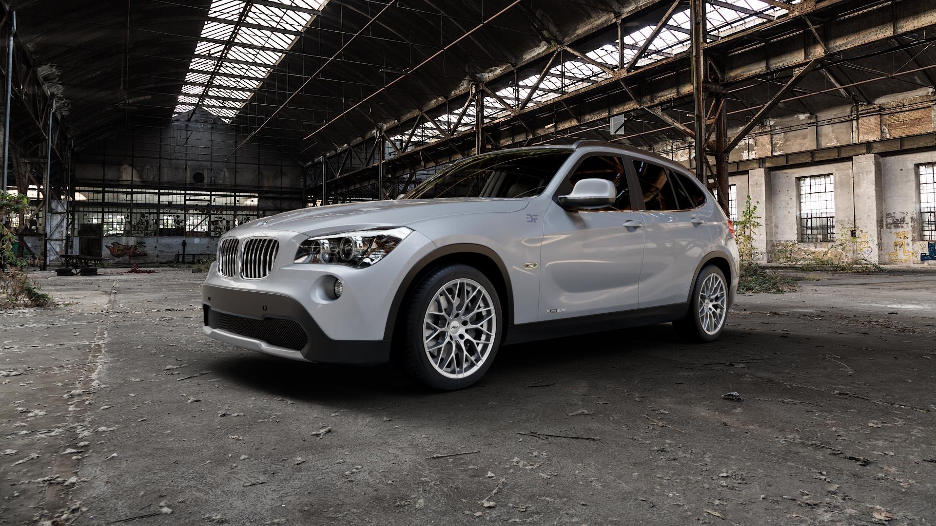 AEZ Antigua High gloss Felge mit Reifen silber in 18Zoll Winterfelge Alufelge auf silbernem BMW X1 Typ E84 (X1, X-N1, X1-N1) ⬇️ mit 15mm Tieferlegung ⬇️ Industriehalle 1 Camera_000