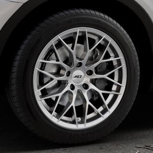 AEZ Antigua High gloss Felge mit Reifen silber in 18Zoll Winterfelge Alufelge auf silbernem BMW X3 Typ F25 (X3, X-N1) ⬇️ mit 15mm Tieferlegung ⬇️ Industriehalle 1 Thumbnail