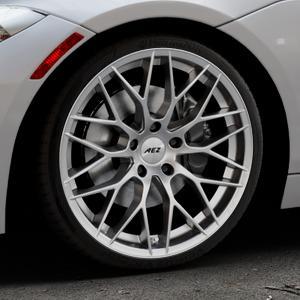 AEZ Antigua High gloss Felge mit Reifen silber in 19Zoll Winterfelge Alufelge auf silbernem BMW Z4 Roadster Typ E89 (Z89, ZR) ⬇️ mit 15mm Tieferlegung ⬇️ Industriehalle 1 Thumbnail