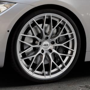 AEZ Antigua High gloss Felge mit Reifen silber in 20Zoll Winterfelge Alufelge auf silbernem BMW 420d Typ F32 (Coupé) 428i xDrive 435i 430d 420i 435d 425d F36 (Gran Coupe) 418d 418i 430i 440i ⬇️ mit 15mm Tieferlegung ⬇️ Industriehalle 1 Thumbnail