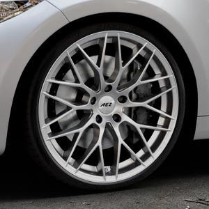 AEZ Antigua High gloss Felge mit Reifen silber in 20Zoll Winterfelge Alufelge auf silbernem BMW M2 Typ F87 ⬇️ mit 15mm Tieferlegung ⬇️ Industriehalle 1 Thumbnail