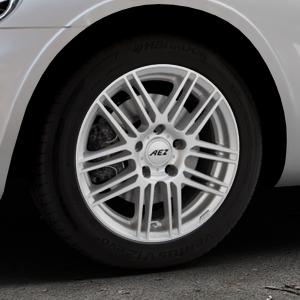 AEZ Cliff High gloss Felge mit Reifen silber in 16Zoll Winterfelge Alufelge auf silbernem Chrysler PT Cruiser Cabriolet ⬇️ mit 15mm Tieferlegung ⬇️ Industriehalle 1 Thumbnail