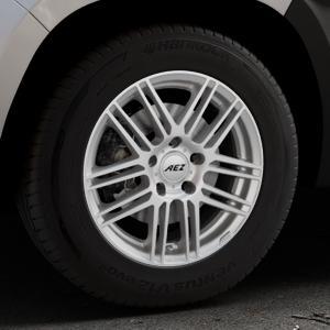AEZ Cliff High gloss Felge mit Reifen silber in 16Zoll Winterfelge Alufelge auf silbernem Dacia Duster Typ SR ⬇️ mit 15mm Tieferlegung ⬇️ Industriehalle 1 Thumbnail