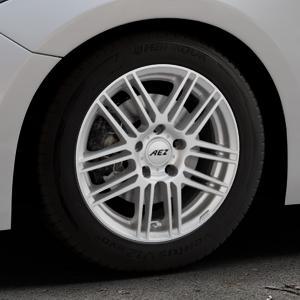 AEZ Cliff High gloss Felge mit Reifen silber in 16Zoll Winterfelge Alufelge auf silbernem Mazda 3 (13-) Stufenheck (BM) Sport (17-) Facelift Fließheck ⬇️ mit 15mm Tieferlegung ⬇️ Industriehalle 1 Thumbnail