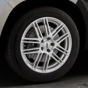 AEZ Cliff High gloss Felge mit Reifen silber in 17Zoll Winterfelge Alufelge auf silbernem Dacia Duster Typ SR ⬇️ mit 15mm Tieferlegung ⬇️ Industriehalle 1 Thumbnail