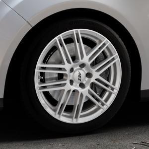 AEZ Cliff High gloss Felge mit Reifen silber in 17Zoll Winterfelge Alufelge auf silbernem Ford Focus III Typ DYB (Turnier) ⬇️ mit 15mm Tieferlegung ⬇️ Industriehalle 1 Thumbnail