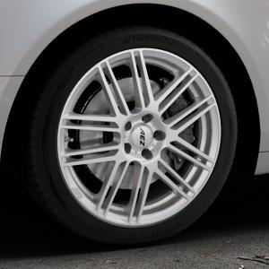 AEZ Cliff High gloss Felge mit Reifen silber in 18Zoll Winterfelge Alufelge auf silbernem Audi A6 Typ 4F/C6 (Limousine) ⬇️ mit 15mm Tieferlegung ⬇️ Industriehalle 1 Thumbnail