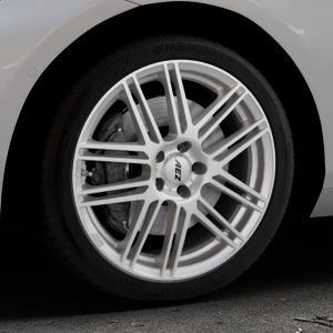 AEZ Cliff High gloss Felge mit Reifen silber in 18Zoll Winterfelge Alufelge auf silbernem BMW 214d Typ F2AT (F45 Active Tourer) 216d 216i 218d 218i 220d xDrive 220i 225i 225xe ⬇️ mit 15mm Tieferlegung ⬇️ Industriehalle 1 Thumbnail