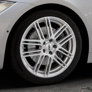 AEZ Cliff High gloss Felge mit Reifen silber in 18Zoll Winterfelge Alufelge auf silbernem BMW 418d Typ F36 (Gran Coupe) 420d xDrive 420i 428i 435i 430d 440i 418i 430i 425d ⬇️ mit 15mm Tieferlegung ⬇️ Industriehalle 1 Thumbnail