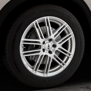 AEZ Cliff High gloss Felge mit Reifen silber in 18Zoll Winterfelge Alufelge auf silbernem Mazda CX-5 Typ KF ⬇️ mit 15mm Tieferlegung ⬇️ Industriehalle 1 Thumbnail