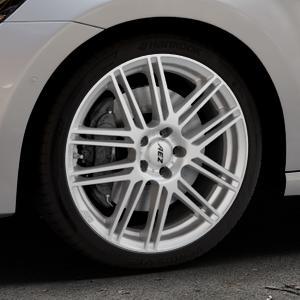 AEZ Cliff High gloss Felge mit Reifen silber in 18Zoll Winterfelge Alufelge auf silbernem Volkswagen (VW) Golf 7 Sportsvan ⬇️ mit 15mm Tieferlegung ⬇️ Industriehalle 1 Thumbnail
