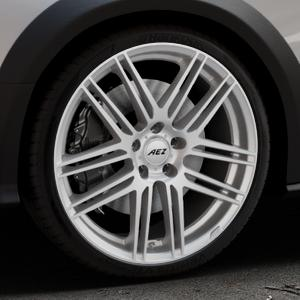 AEZ Cliff High gloss Felge mit Reifen silber in 20Zoll Winterfelge Alufelge auf silbernem Audi A4 Typ 8KH/B8 Allroad ⬇️ mit 15mm Tieferlegung ⬇️ Industriehalle 1 Thumbnail