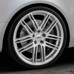 AEZ Cliff High gloss Felge mit Reifen silber in 20Zoll Winterfelge Alufelge auf silbernem Audi A6 Typ 4F/C6 (Avant) ⬇️ mit 15mm Tieferlegung ⬇️ Industriehalle 1 Thumbnail