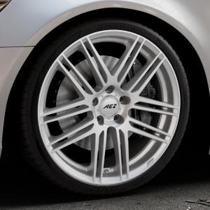 AEZ Cliff High gloss Felge mit Reifen silber in 20Zoll Winterfelge Alufelge auf silbernem Audi A6 Typ 4G/C7 (Limousine) ⬇️ mit 15mm Tieferlegung ⬇️ Industriehalle 1 Thumbnail
