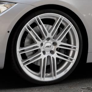 AEZ Cliff High gloss Felge mit Reifen silber in 20Zoll Winterfelge Alufelge auf silbernem BMW 420d Typ F32 (Coupé) 428i xDrive 435i 430d 420i 435d 425d F36 (Gran Coupe) 418d 418i 430i 440i ⬇️ mit 15mm Tieferlegung ⬇️ Industriehalle 1 Thumbnail