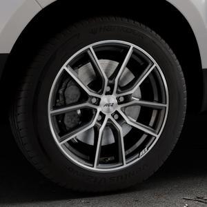AEZ Raise Gunmetal polished Felge mit Reifen grau silber mehrfarbig in 17Zoll Alufelge auf silbernem Dacia Duster Typ SD ⬇️ mit 15mm Tieferlegung ⬇️ Industriehalle 1 Thumbnail