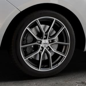 AEZ Raise Gunmetal polished Felge mit Reifen grau silber mehrfarbig in 17Zoll Alufelge auf silbernem Hyundai ix20 Typ JC ⬇️ mit 15mm Tieferlegung ⬇️ Industriehalle 1 Thumbnail
