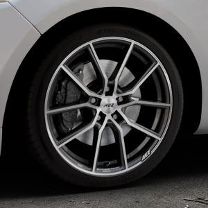 AEZ Raise Gunmetal polished Felge mit Reifen grau silber mehrfarbig in 18Zoll Alufelge auf silbernem Ford Mondeo IV Limousine Typ BA7 Turnier Fließheck ⬇️ mit 15mm Tieferlegung ⬇️ Industriehalle 1 Thumbnail