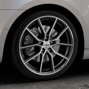 AEZ Raise Gunmetal polished Felge mit Reifen grau silber mehrfarbig in 18Zoll Alufelge auf silbernem Skoda Octavia III Kombi Typ 5E Facelift ⬇️ mit 15mm Tieferlegung ⬇️ Industriehalle 1 Thumbnail
