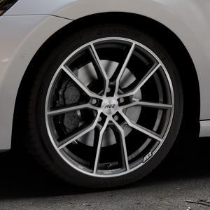 AEZ Raise Gunmetal polished Felge mit Reifen grau silber mehrfarbig in 18Zoll Alufelge auf silbernem Volkswagen (VW) Golf 7 Sportsvan ⬇️ mit 15mm Tieferlegung ⬇️ Industriehalle 1 Thumbnail