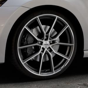 AEZ Raise Gunmetal polished Felge mit Reifen grau silber mehrfarbig in 19Zoll Alufelge auf silbernem Volkswagen (VW) Golf 7 Sportsvan ⬇️ mit 15mm Tieferlegung ⬇️ Industriehalle 1 Thumbnail