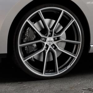 AEZ Raise Gunmetal polished Felge mit Reifen grau silber mehrfarbig in 20Zoll Alufelge auf silbernem Seat Leon Typ 5F ST Facelift ⬇️ mit 15mm Tieferlegung ⬇️ Industriehalle 1 Thumbnail