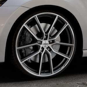 AEZ Raise Gunmetal polished Felge mit Reifen grau silber mehrfarbig in 20Zoll Alufelge auf silbernem Volkswagen (VW) Golf 7 Sportsvan ⬇️ mit 15mm Tieferlegung ⬇️ Industriehalle 1 Thumbnail