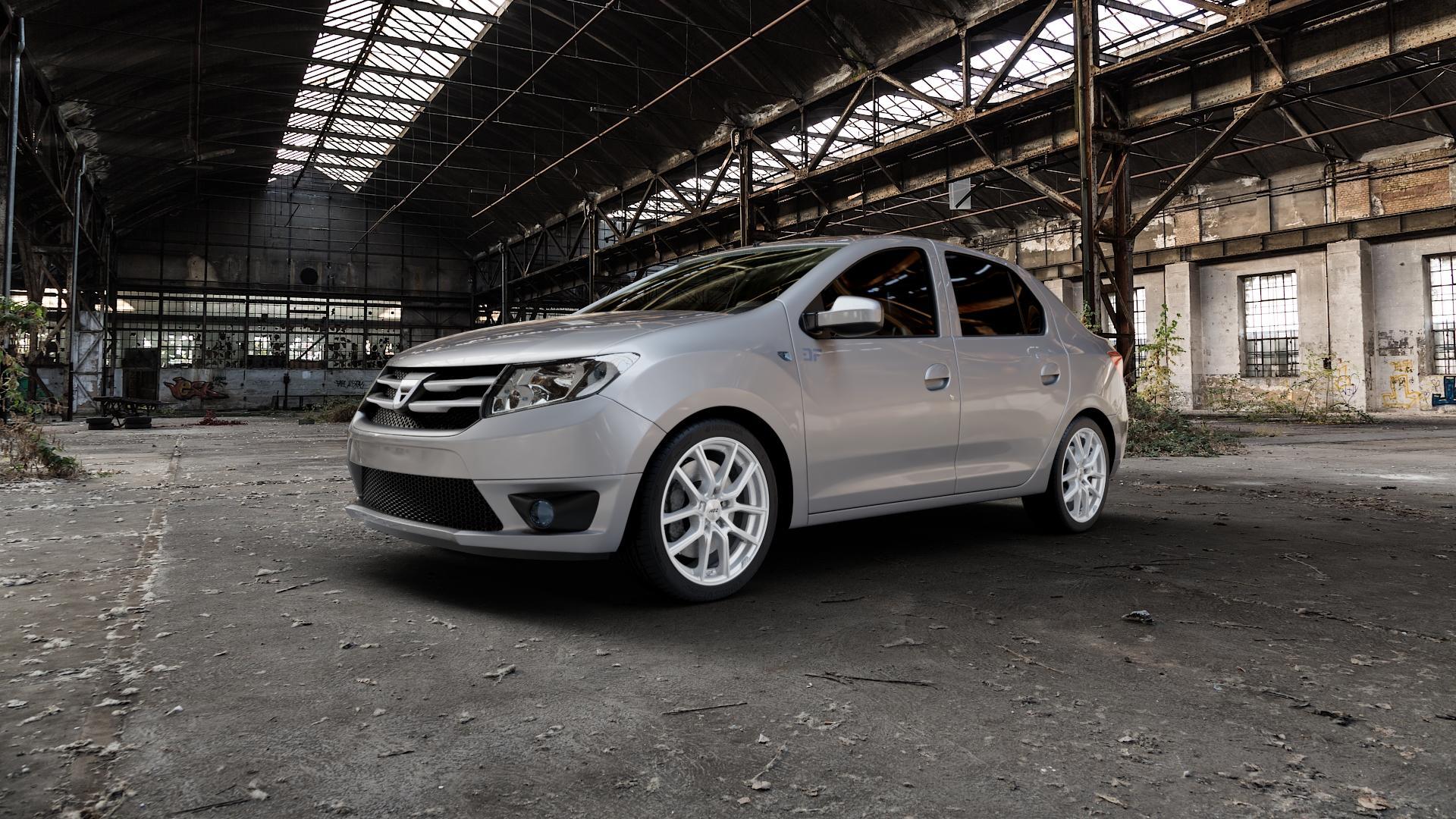 AEZ Raise High gloss Felge mit Reifen in 17Zoll Winterfelge Alufelge auf silbernem Dacia Logan II Typ SD ⬇️ mit 15mm Tieferlegung ⬇️ Industriehalle 1 Camera_000