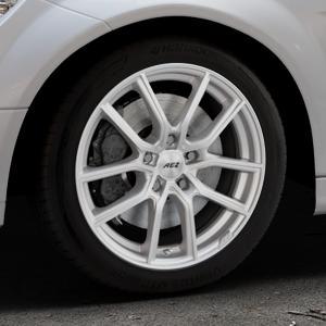 AEZ Raise High gloss Felge mit Reifen in 17Zoll Winterfelge Alufelge auf silbernem Mercedes C-Klasse Typ W204 Limousine ⬇️ mit 15mm Tieferlegung ⬇️ Industriehalle 1 Thumbnail