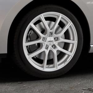 AEZ Raise High gloss Felge mit Reifen in 17Zoll Winterfelge Alufelge auf silbernem Seat Leon Typ 5F ST Facelift ⬇️ mit 15mm Tieferlegung ⬇️ Industriehalle 1 Thumbnail
