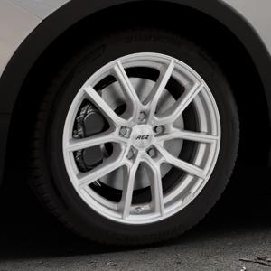 AEZ Raise High gloss Felge mit Reifen in 17Zoll Winterfelge Alufelge auf silbernem Ssangyong Tivoli Typ XK ⬇️ mit 15mm Tieferlegung ⬇️ Industriehalle 1 Thumbnail