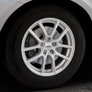 AEZ Raise High gloss Felge mit Reifen in 17Zoll Winterfelge Alufelge auf silbernem Volvo XC60 Typ D Facelift ⬇️ mit 15mm Tieferlegung ⬇️ Industriehalle 1 Thumbnail