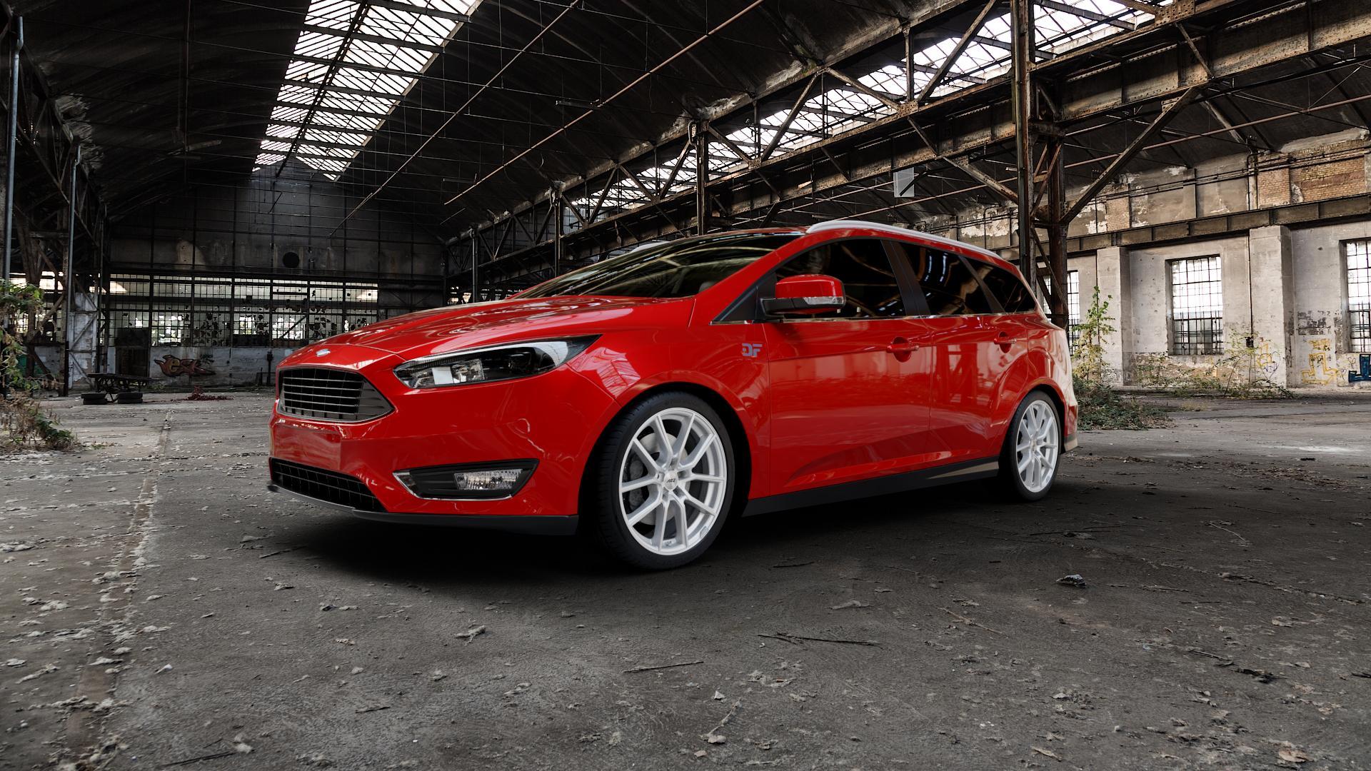 AEZ Raise High gloss Felge mit Reifen in 18Zoll Winterfelge Alufelge auf rotem Ford Focus III Typ DYB Facelift (Turnier) ⬇️ mit 15mm Tieferlegung ⬇️ Industriehalle 1 Camera_000