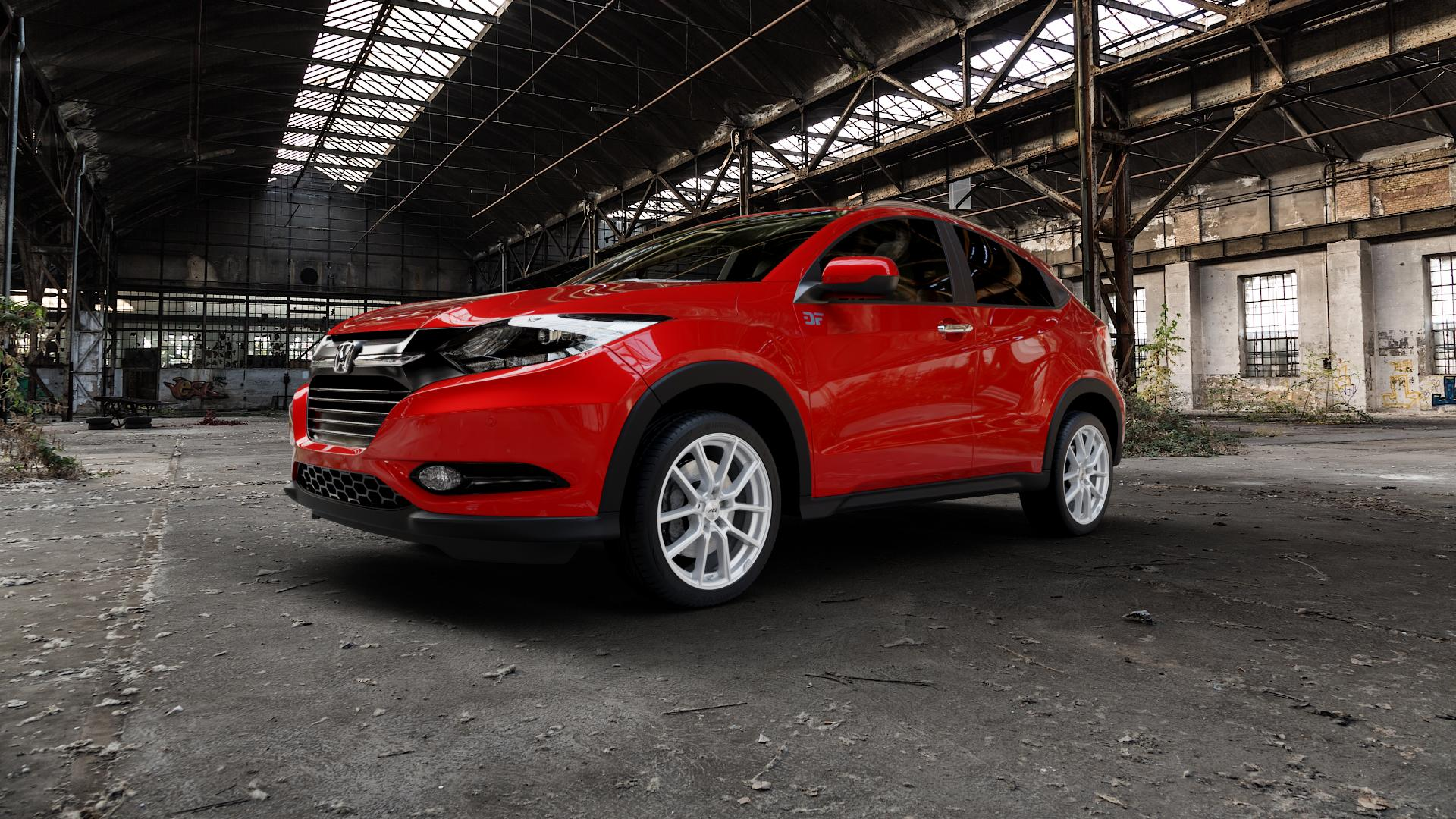 AEZ Raise High gloss Felge mit Reifen in 18Zoll Winterfelge Alufelge auf rotem Honda HR-V II (RU) ⬇️ mit 15mm Tieferlegung ⬇️ Industriehalle 1 Camera_000