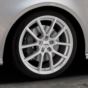 AEZ Raise High gloss Felge mit Reifen in 18Zoll Winterfelge Alufelge auf silbernem Audi A3 Typ 8V (Cabriolet) ⬇️ mit 15mm Tieferlegung ⬇️ Industriehalle 1 Thumbnail