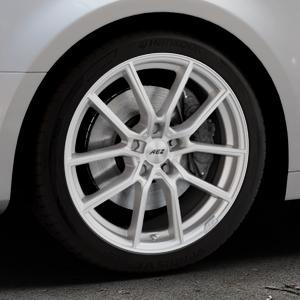 AEZ Raise High gloss Felge mit Reifen in 18Zoll Winterfelge Alufelge auf silbernem Audi A4 Typ B9 (Limousine) ⬇️ mit 15mm Tieferlegung ⬇️ Industriehalle 1 Thumbnail