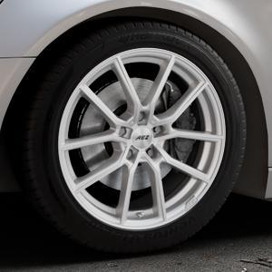 AEZ Raise High gloss Felge mit Reifen in 18Zoll Winterfelge Alufelge auf silbernem Audi A6 Typ 4G/C7 (Avant) ⬇️ mit 15mm Tieferlegung ⬇️ Industriehalle 1 Thumbnail
