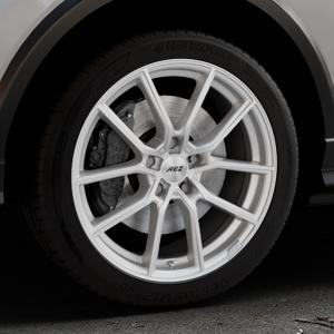 AEZ Raise High gloss Felge mit Reifen in 18Zoll Winterfelge Alufelge auf silbernem Audi Q2 Typ GA ⬇️ mit 15mm Tieferlegung ⬇️ Industriehalle 1 Thumbnail