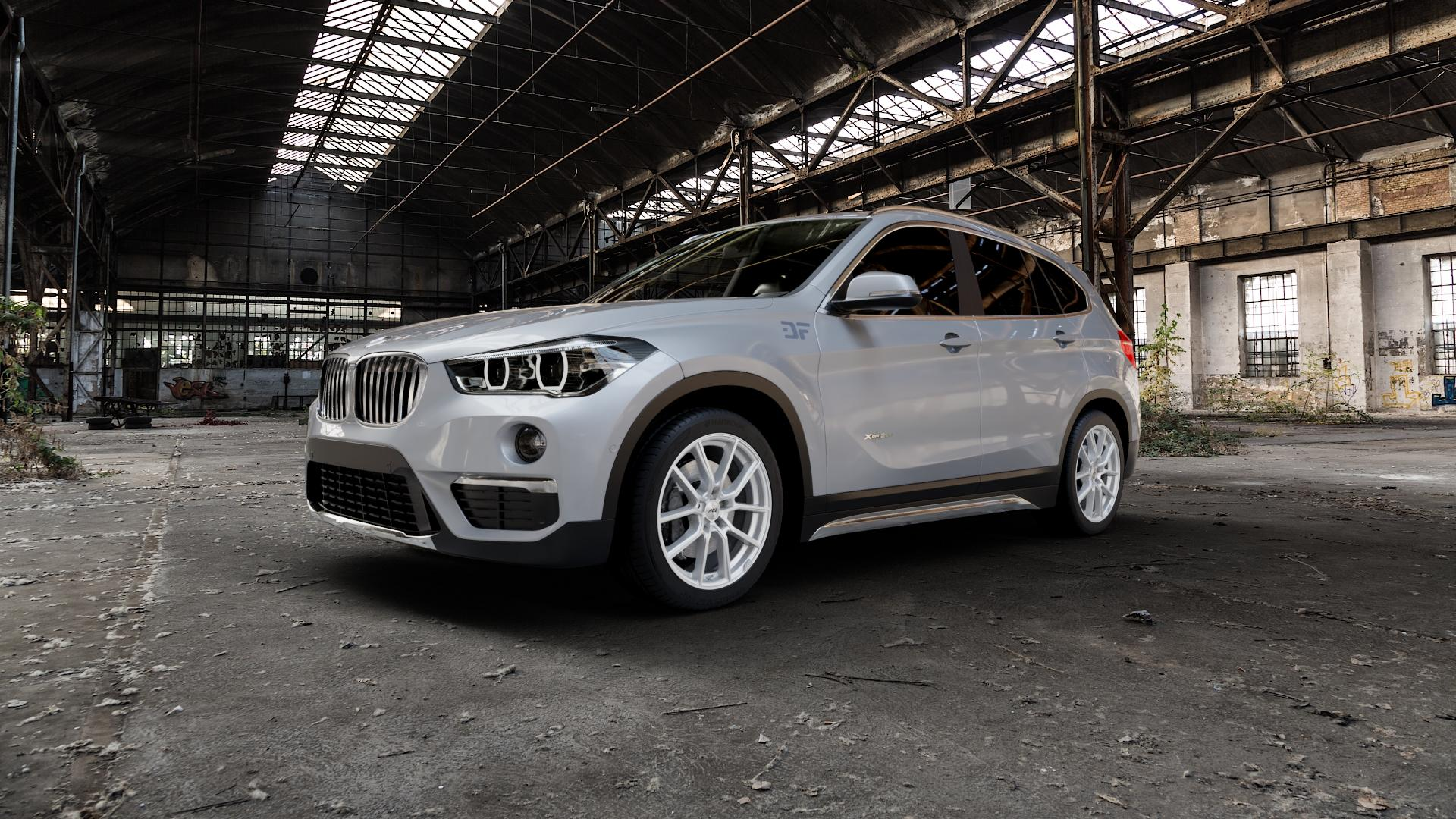 AEZ Raise High gloss Felge mit Reifen in 18Zoll Winterfelge Alufelge auf silbernem BMW X1 Typ F48 (UKL-L) (F1X) ⬇️ mit 15mm Tieferlegung ⬇️ Industriehalle 1 Camera_000