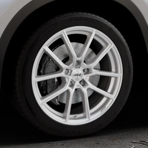 AEZ Raise High gloss Felge mit Reifen in 18Zoll Winterfelge Alufelge auf silbernem BMW X1 Typ F48 (UKL-L) (F1X) ⬇️ mit 15mm Tieferlegung ⬇️ Industriehalle 1 Thumbnail