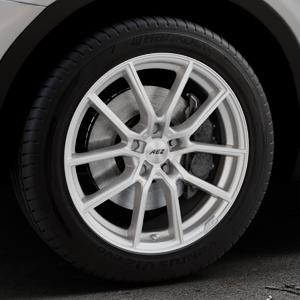 AEZ Raise High gloss Felge mit Reifen in 18Zoll Winterfelge Alufelge auf silbernem BMW X3 Typ F25 (X3, X-N1) ⬇️ mit 15mm Tieferlegung ⬇️ Industriehalle 1 Thumbnail